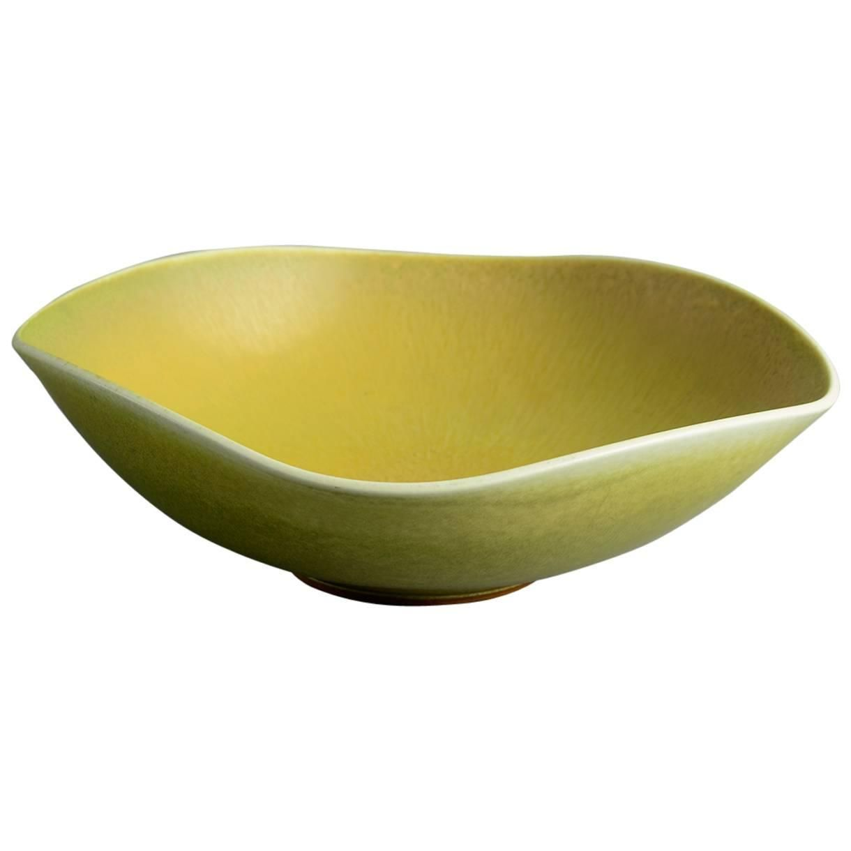 Yellow Decorative Bowl Large Bowl With Yellow Haresfur Glazeberndt Friberg For