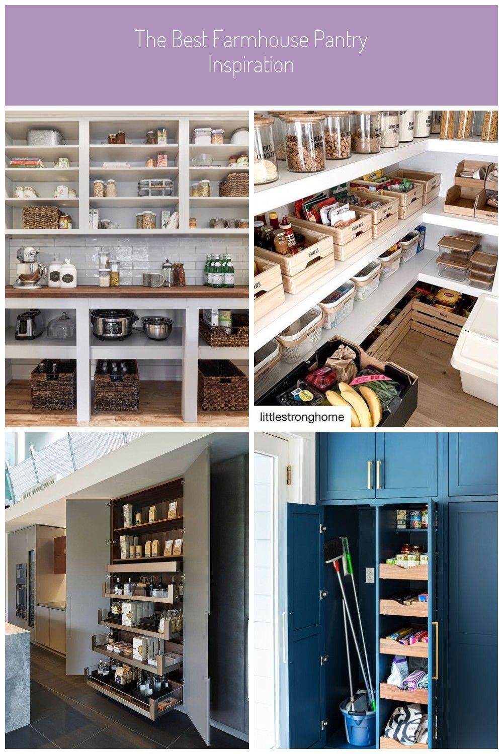 Big or small a farmhouse style pantry can add charm and a fantastic storage s…