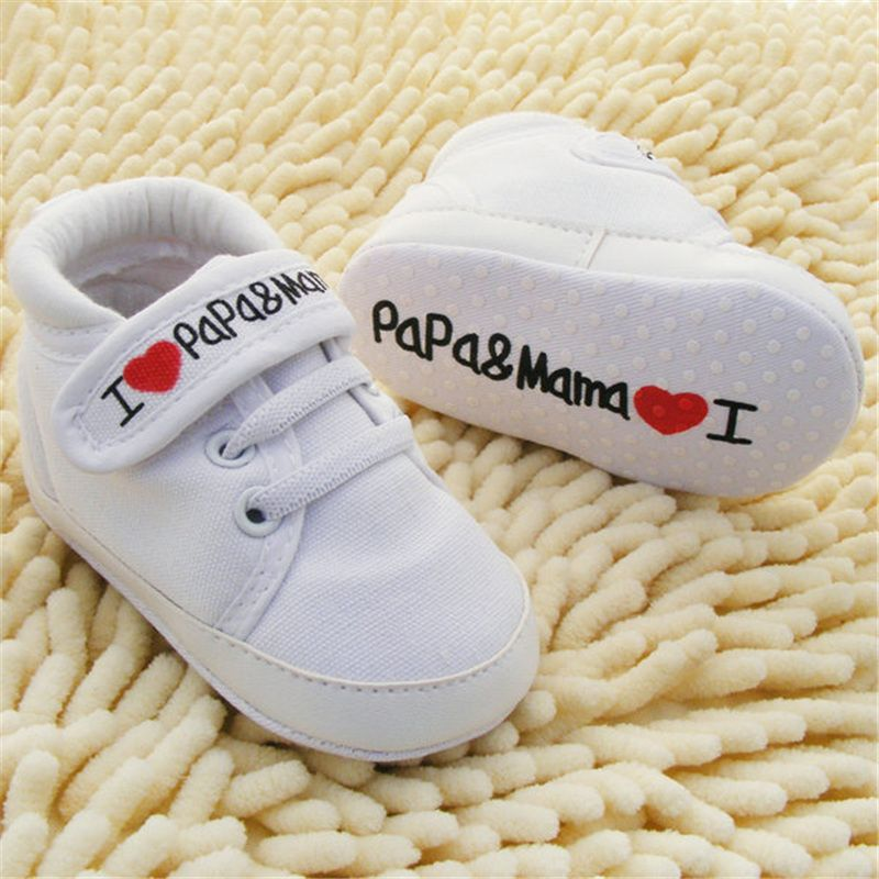 7e27cc68e57 Barato 0 18 M bebê infantil crianças menino meninas macios únicos sapatilha  da lona sapatos de criança recém nascido nova PY1