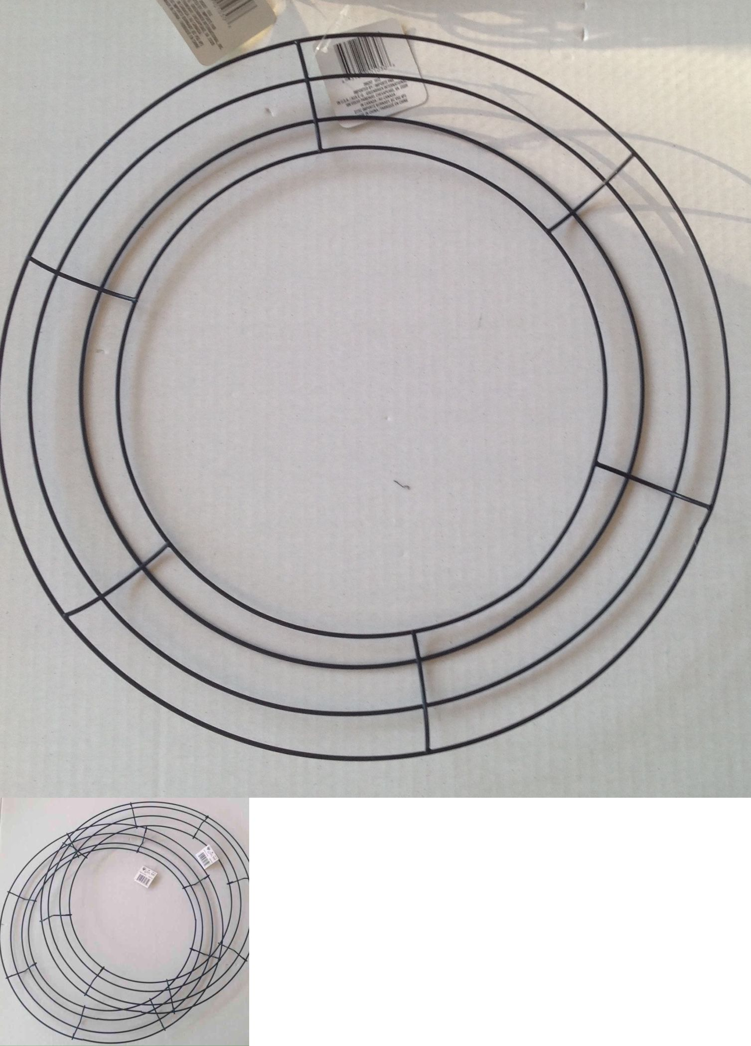 Wreaths 16498: 12 Pc Wire Wreath Form 14 Inches Frame Craft Mesh ...