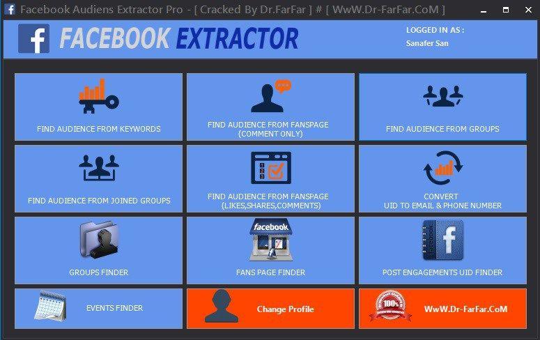 Facebook Audiens Extractor Pro v6 0 - Social Media Marketing