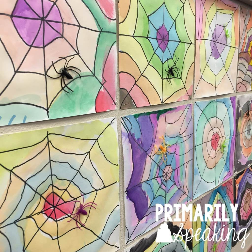 Primarily Speaking Spider Web Art Tutorial