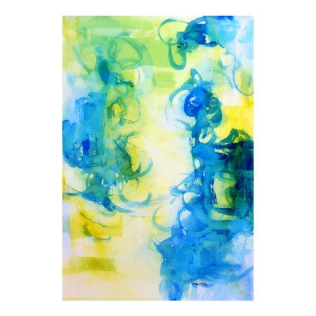Refresh and Renew your Home for Spring with this Secret Garden Abstract Watercolor print
