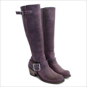 Purple riding boots