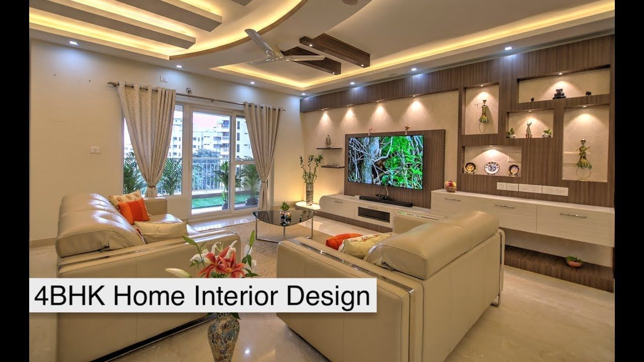 4bhk Home Interior Design Of Mr Srikanth And Mrs Deepa Abode At Salarpuria Youtube Home Interior Design House Interior Interior Design Firms