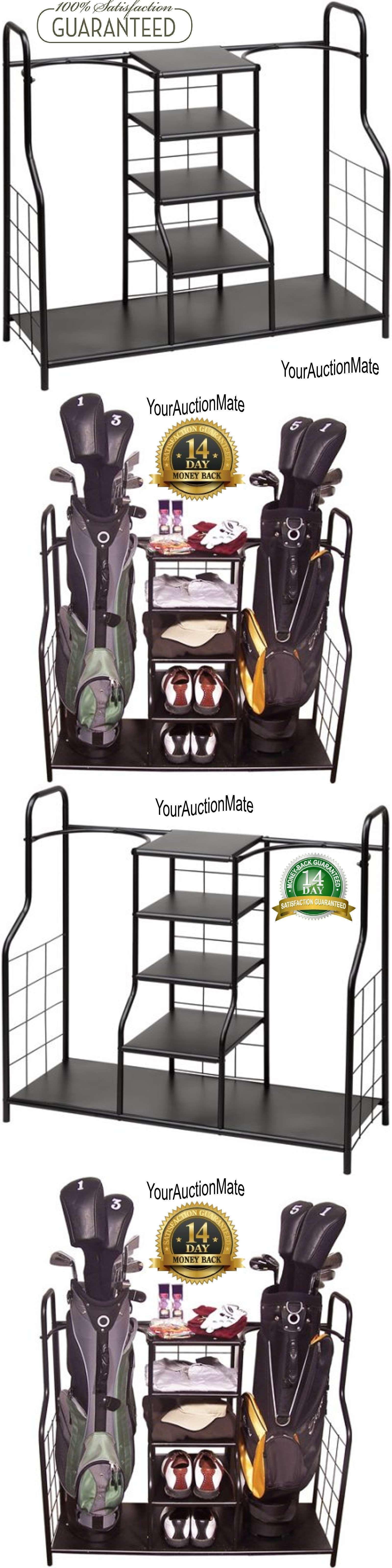 Other Golf Equipment 181155: Golf Bag Organizer Garage Metal Storage Holder  Portable Clubs Shoes Accessories