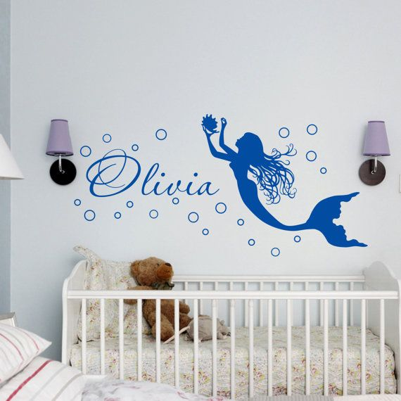 Mermaid Wall Decal Personalized Name Decal By HomeDecalsStickers