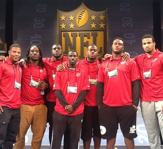 Your #AZCardinals 2015 draft class at the rookie symposium receiving a lot of information and advice!