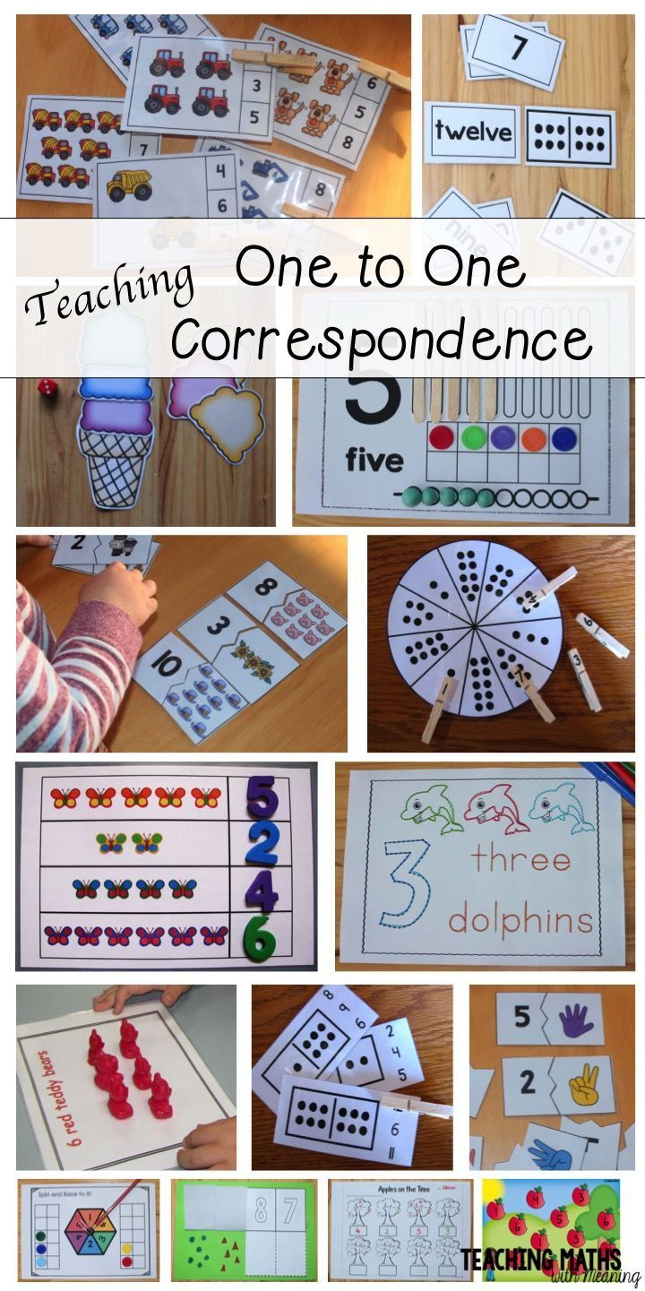 One to One Correspondence (Cardinality) Math Counting