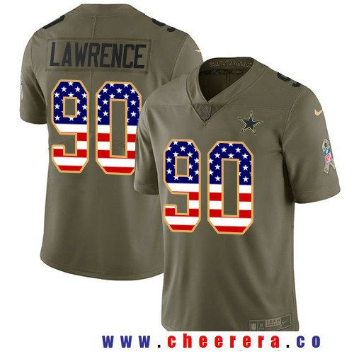 mens dallas cowboys chidobe awuzie olive with usa flag 2017 salute to service stitched nfl nike limited jersey