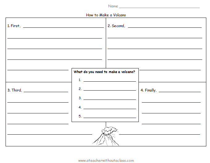 4 square template for writing instructions writing ideas