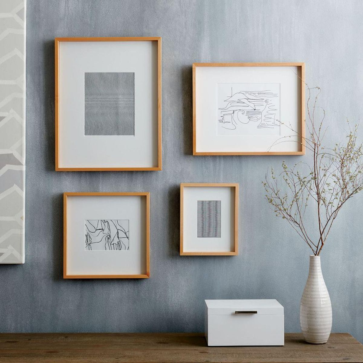 Thin Wood Gallery Frames - Bamboo | west elm AU | living room ...