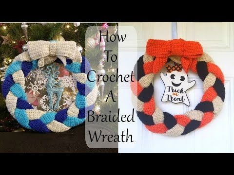 Photo of Braided Crochet Wreath Tutorial, How To Make A Crochet Wreath Great For Any Season