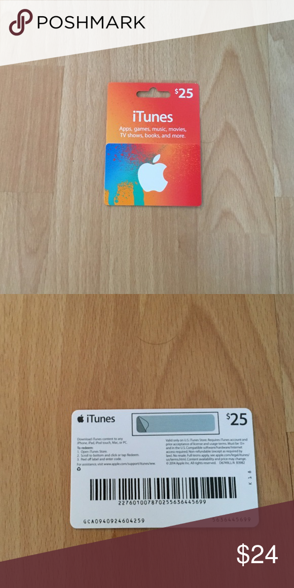 $25 iTunes gift card $25 iTunes gift card, never used, not a scam ...