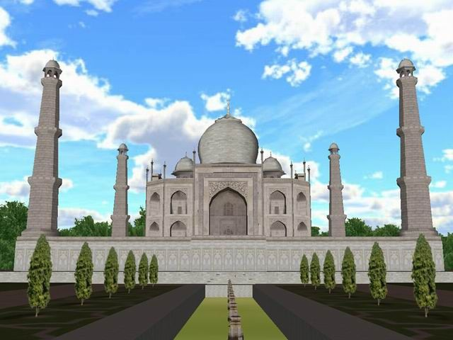 3d Desktop That Moves And Sounds Alive Screenshot Taj Mahal 3d