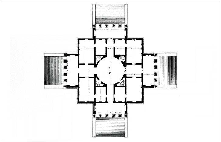 Palladio rotonda planta scamozzi 1778 villa capra la rotonda architectural drawings ccuart Images