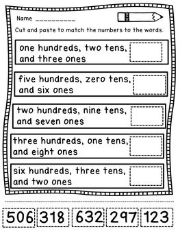 place value worksheets for 2nd grade marvelous math tieplay educational resources llc. Black Bedroom Furniture Sets. Home Design Ideas