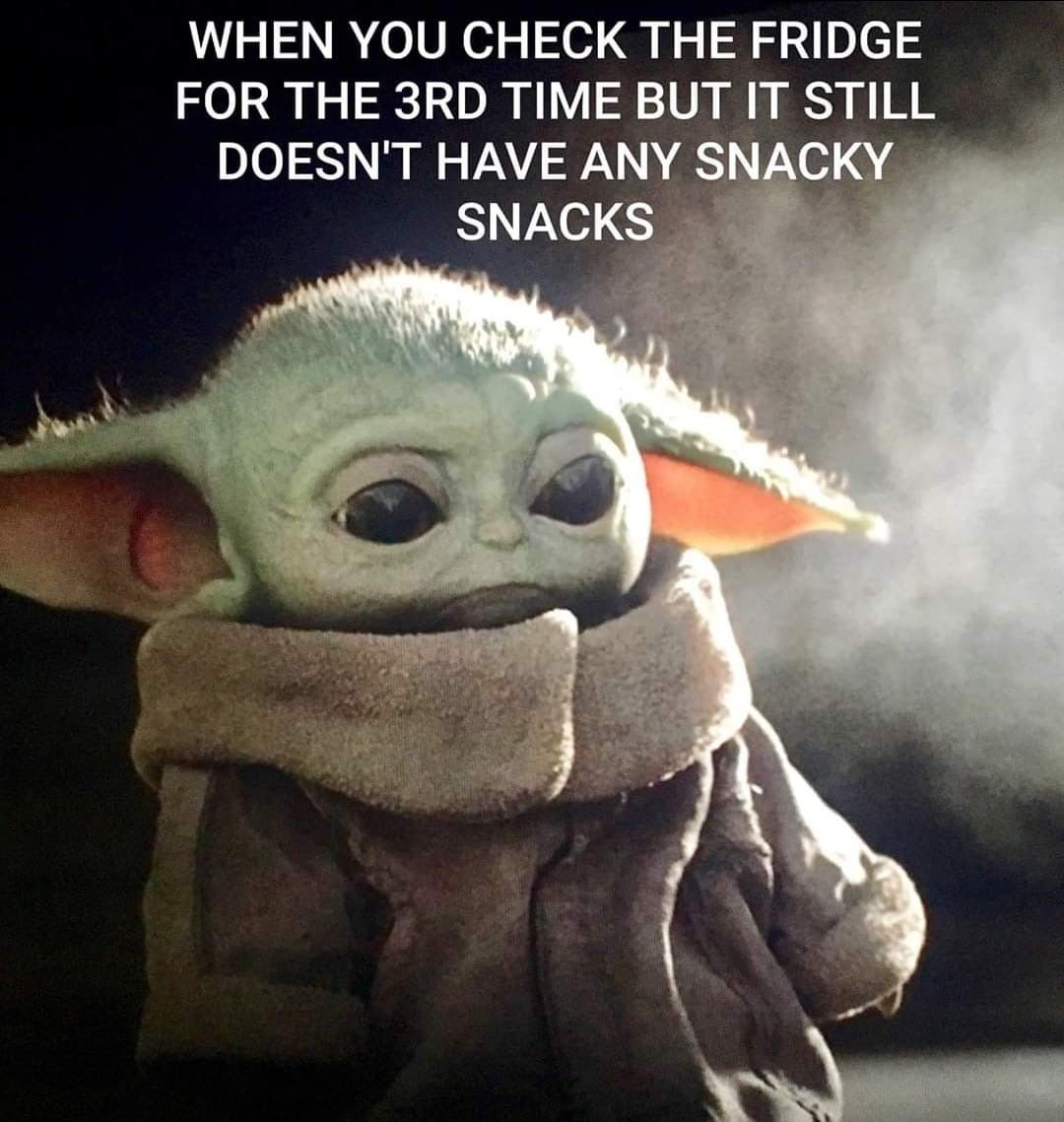 Waiting On Food To Appear Yoda Funny Yoda Meme Funny Meme Pictures