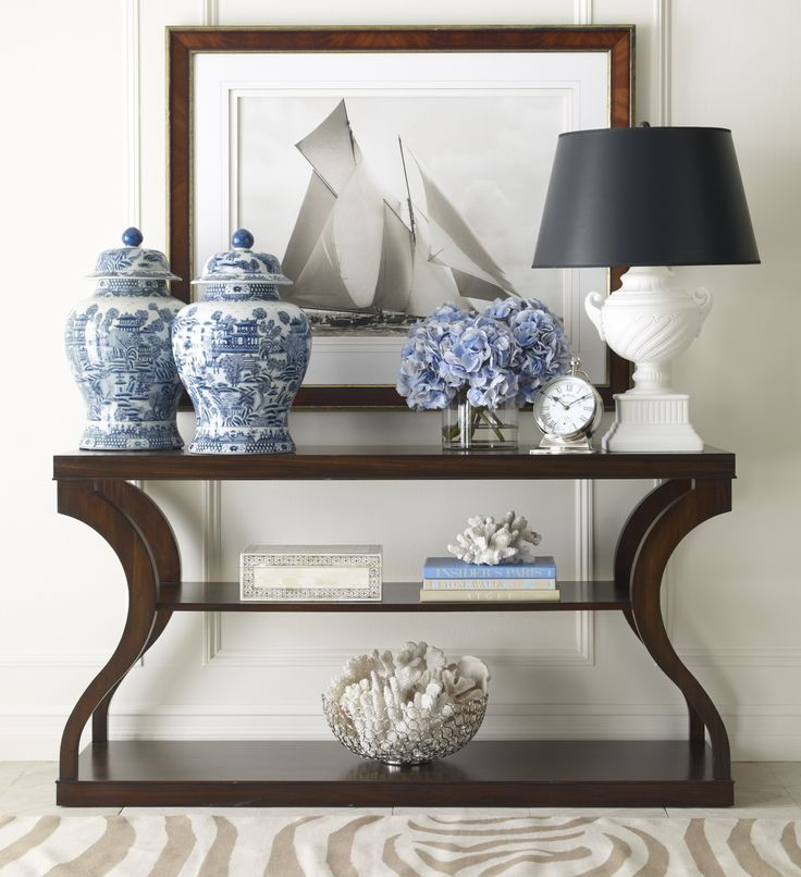 Black And Blue Entryway Console Table Home Decor Entryway Console