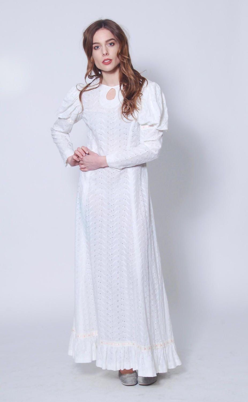 Vintage 70s Eyelet Lace Dress Boho Wedding Dress Hippie Etsy Boho Dress Eyelet Lace Dress Lace Dress Boho [ 1500 x 926 Pixel ]