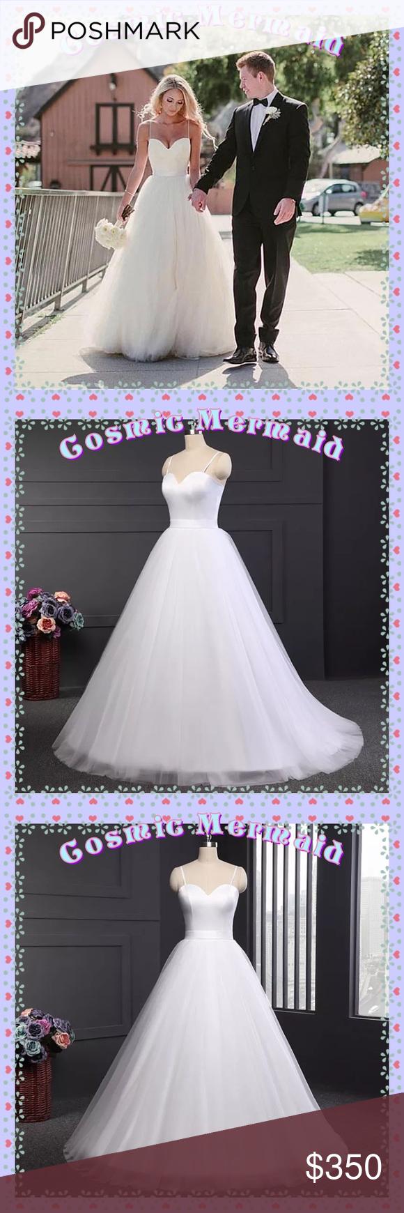 Silhouette wedding dresses simple bridal  Elegant Tulle Princess Wedding Dress Simple  Pinterest