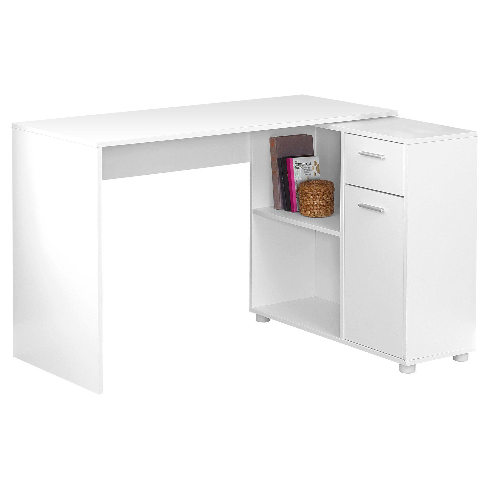 29 5 Particle Board And Laminate Computer Desk With A Storage Cabinet In 2021 White Computer Desk Desk Storage White Corner Desk