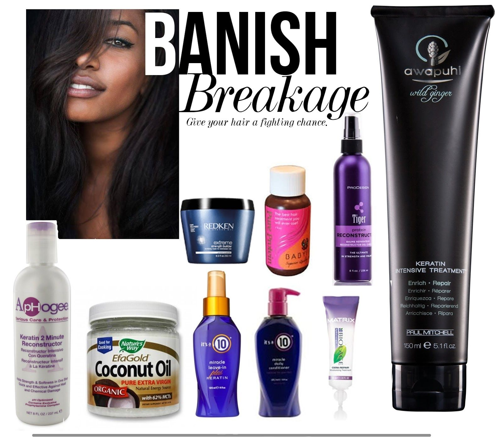 Relaxed Hair Health Products that help to banish breakage