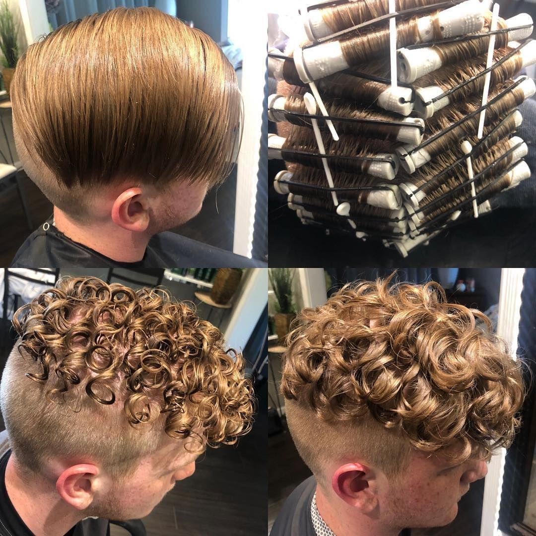 Men S Hair Haircuts Fade Haircuts Short Medium Long Buzzed Side Part Long Top Short Sides Hair Styl Permed Hairstyles Perm Hair Men Curly Hair Styles