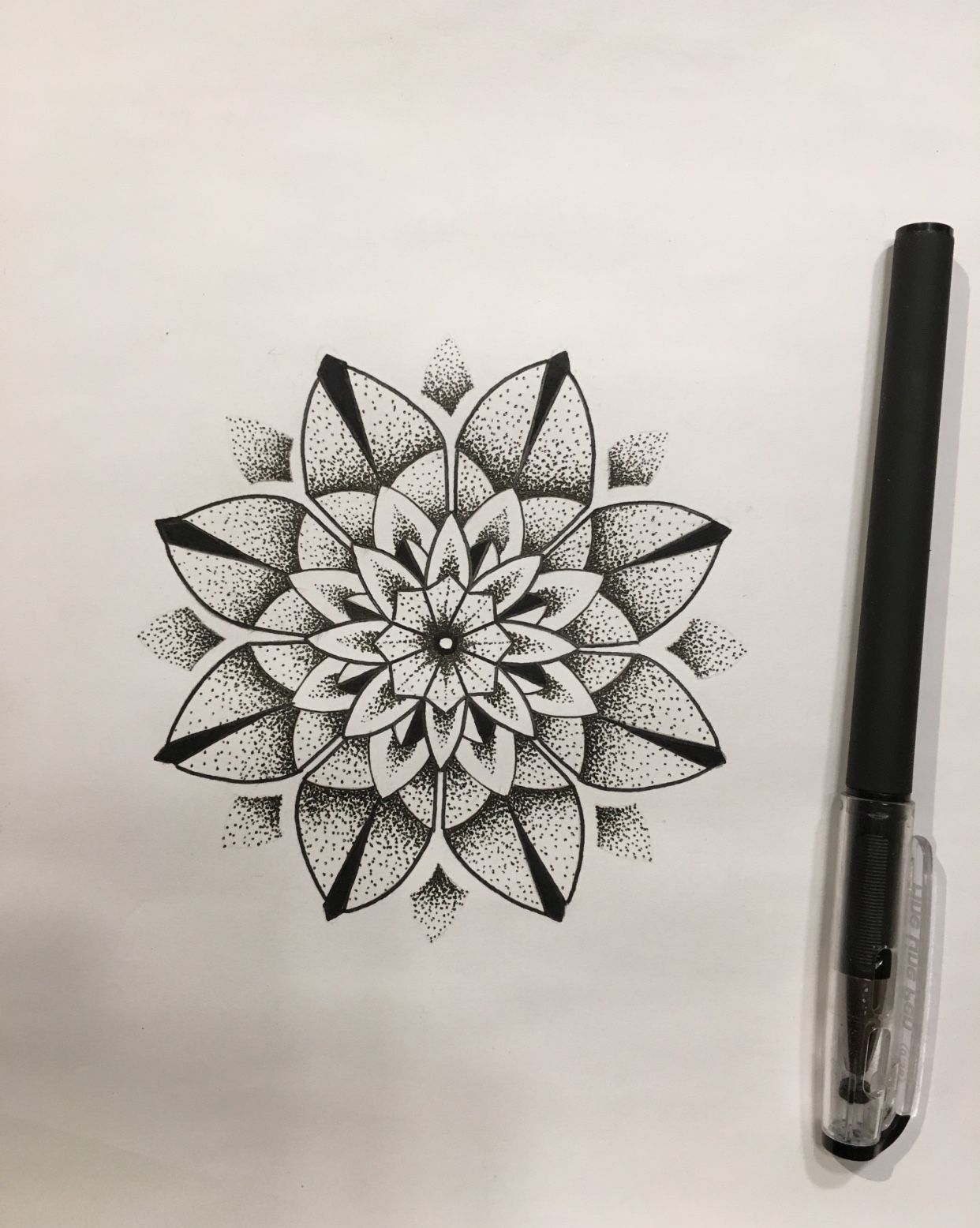 Mandala Dot Work Flower Tattoo Design Drawn Up By Travis Allen