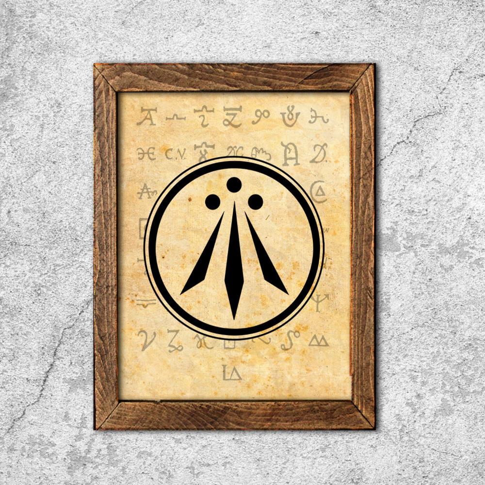 Druid symbol the Awen Alchemy print wicca illustration ...