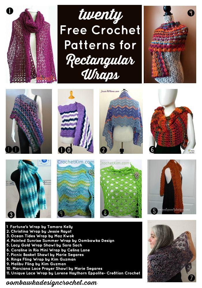 20 Free Crochet Patterns for Rectangular Wraps | Free crochet ...