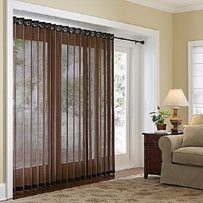 Grommet Panels U2013 Provide A Durable Support To Your Curtains: Grommet Panels  For Patio Doors