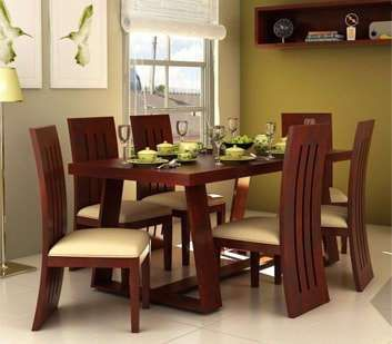 Pune Dining Room Furniture 6 Seater Dining Table Dining