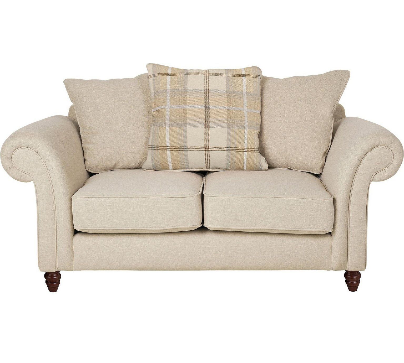 Buy Heart of House Windsor 2 Seater Fabric Sofa - Cream /Natural at ...