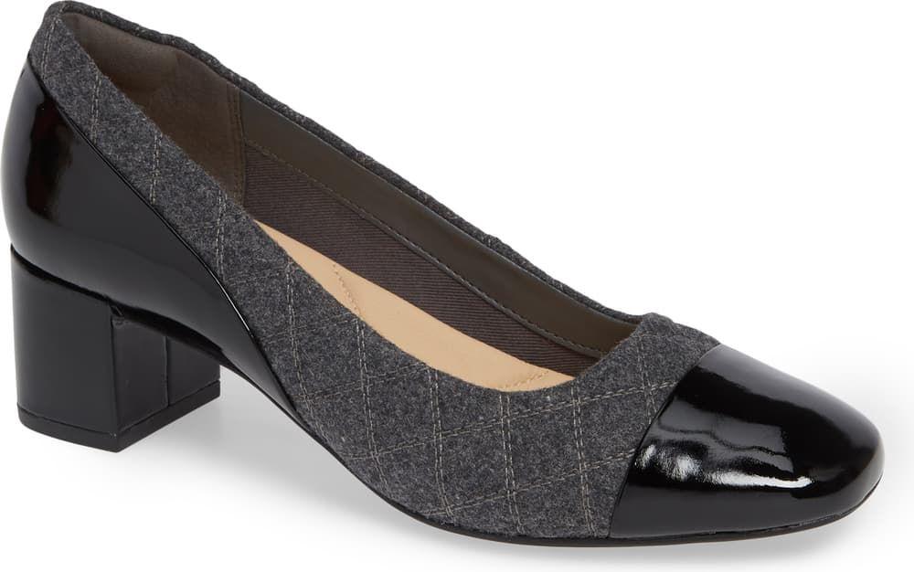 block-heel pump. | Block heels pumps