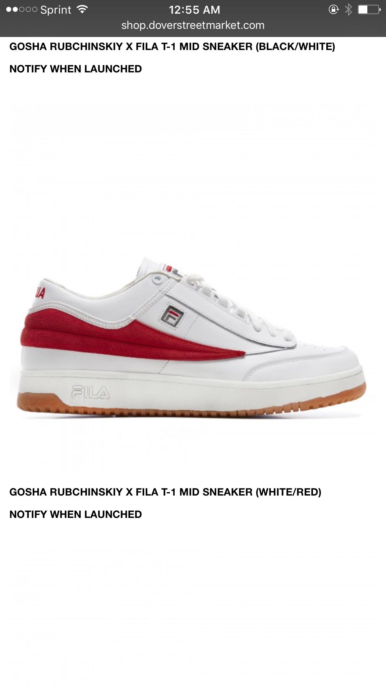 Fila T X 1 Gosha SneakerwhiteredShoes Mid Rubchinskiy PuikXZO