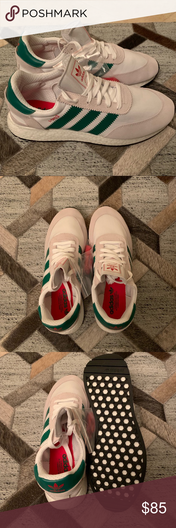 0ec2dbfe92fee3 Adidas Originals I-5923 New 12 Adidas Originals I-5923 Shoes Size 12 New in  box. Style  D96818 Color  Cloud White Bold Green Collegiate Red Lace  Closure ...