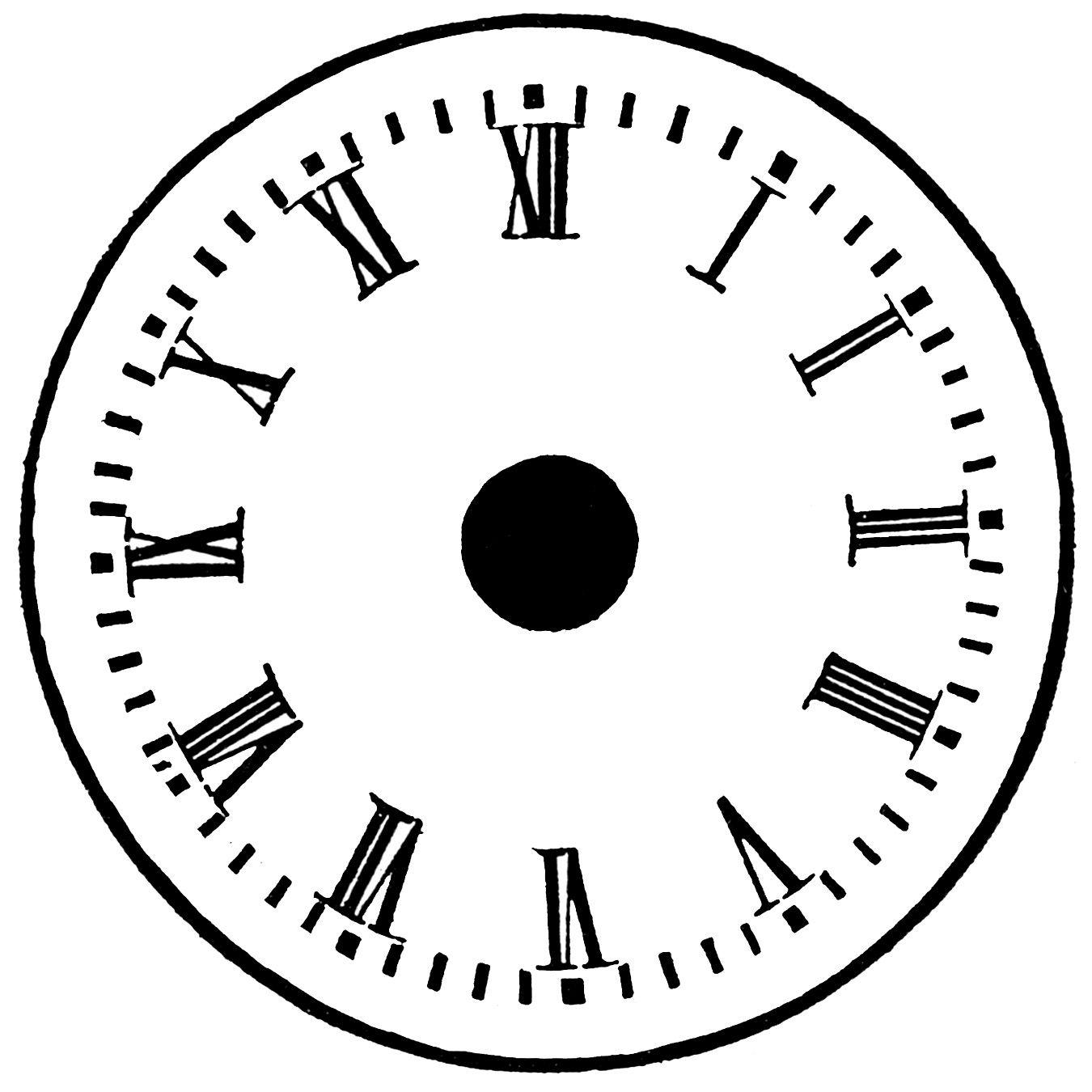 vintage clip art french clock parts craft ideas pinterest rh pinterest com clock face clipart 1 o'clock clock face clip art free