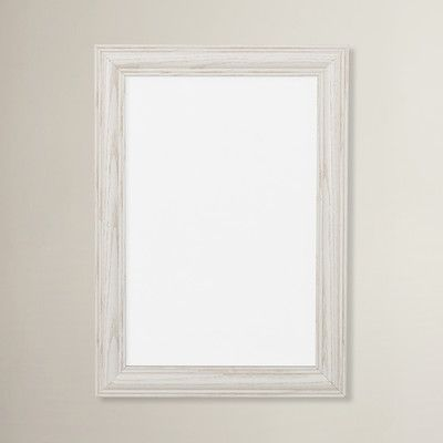 August Grove 127 Wide Wood Grain Picture Frame Color Whitewash
