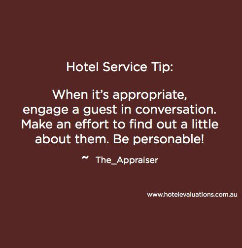 #HotelServiceTip: When it's appropriate, engage a guest in ...