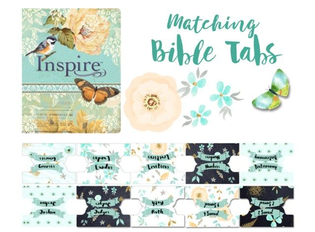 printable bible journaling tabs to match the inspire bible biblejournaling