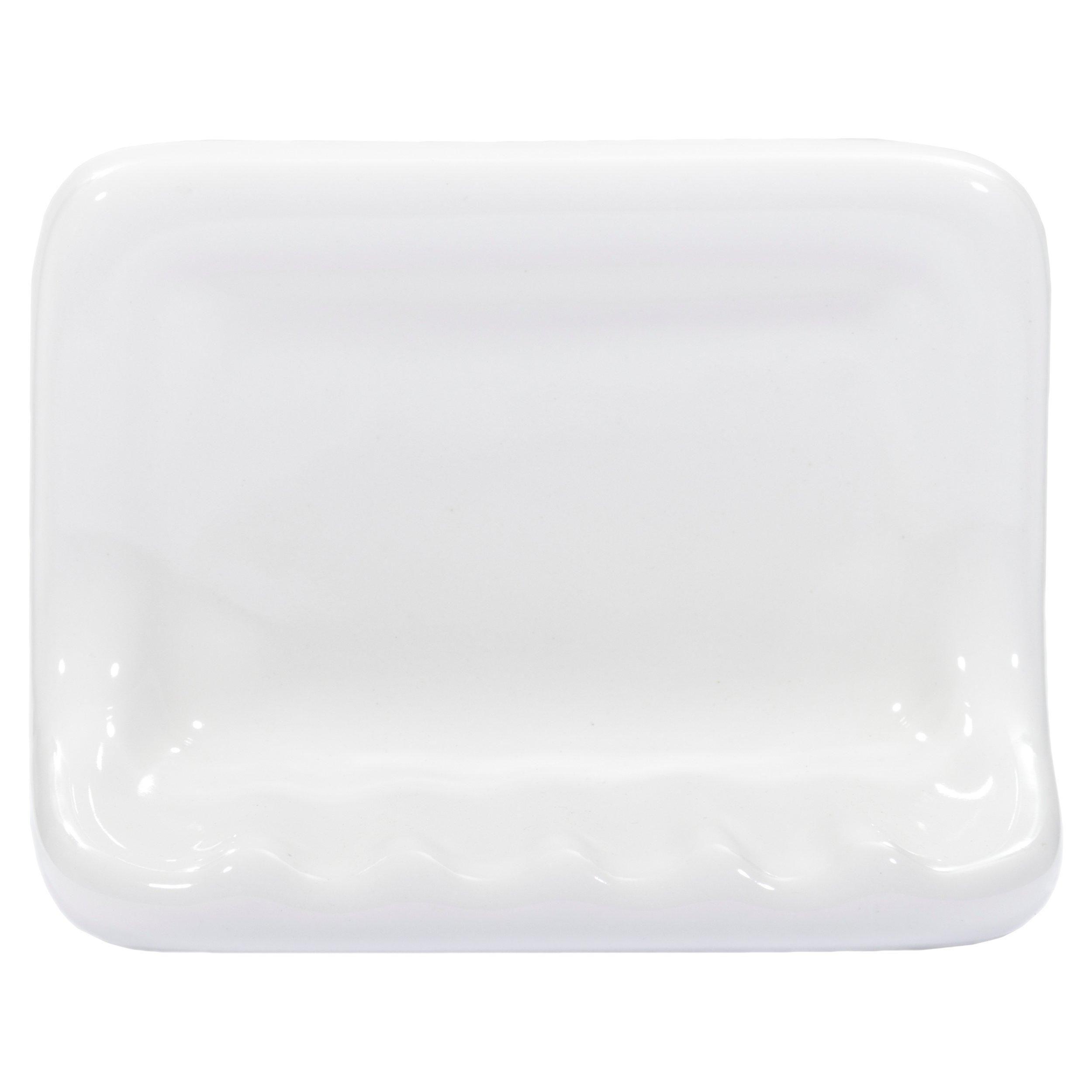 White Ceramic Soap Dish In 2020 Ceramic Soap Dish White