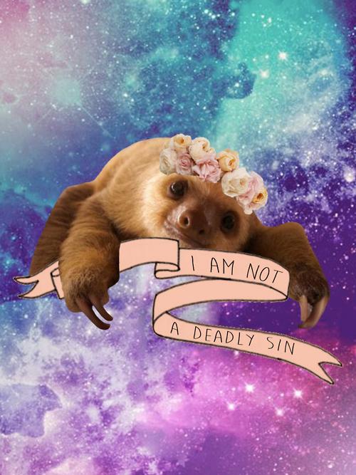 Animals edit galaxy sloths sloth baby sloth baby animal - Sloth wallpaper phone ...