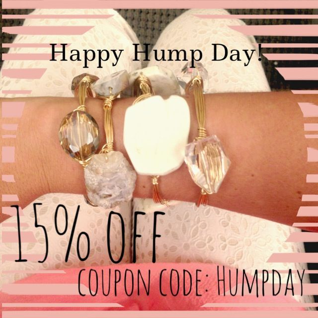 Reeceblaire.com is 15% off your entire order today when you use coupon code: HUMPDAY !!! Hump day is the perfect excuse to treat yourself to some jewels! #KeepYourBaublesStacked #reeceblaire