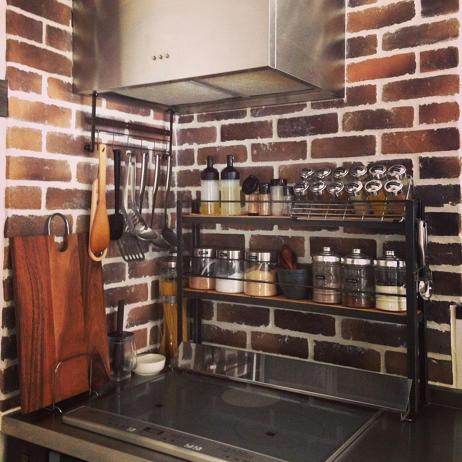 Kitchen ケヴンハウン セリア ダルトン 無印良品 Ranranちゃんのスパイスラック などのインテリア実例 2016 04 26 20 54 45 ホームアイデア Japanese Kitchen Rustic Decor Interior