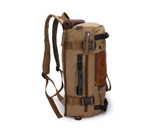 8ae27b8b8d Vintage Men s Canvas backpack Rucksack 17