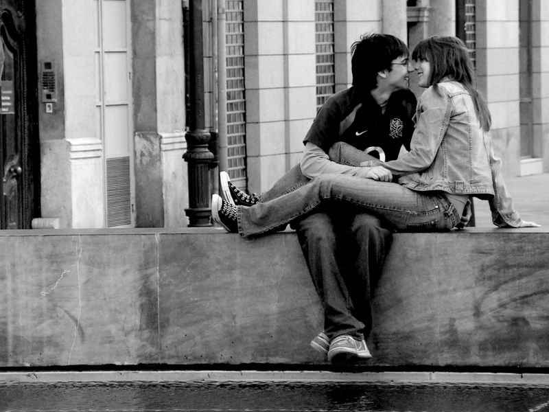 Black and white people in love