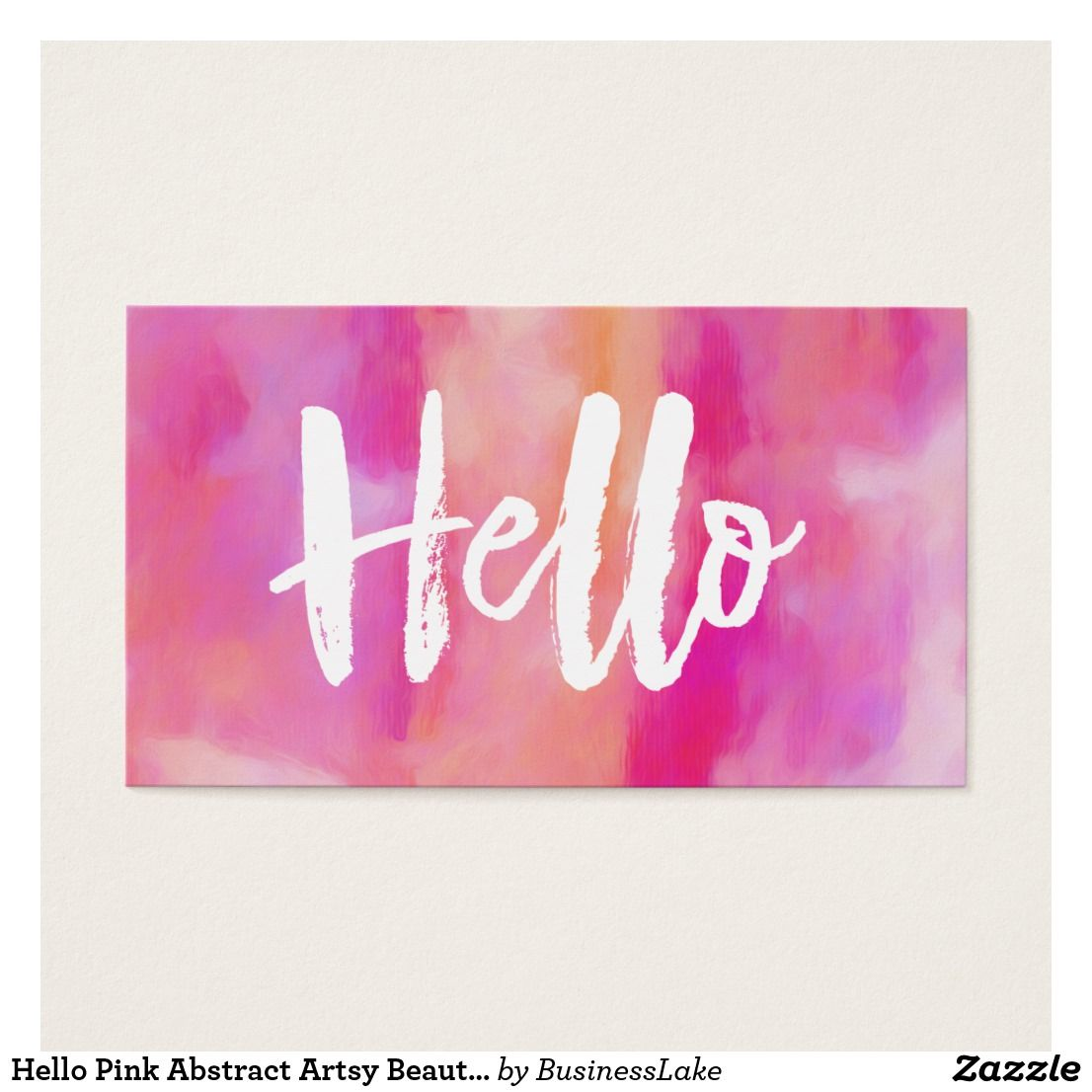 Hello pink abstract artsy beautiful business card contact card hello pink abstract artsy beautiful business card contact card magicingreecefo Gallery