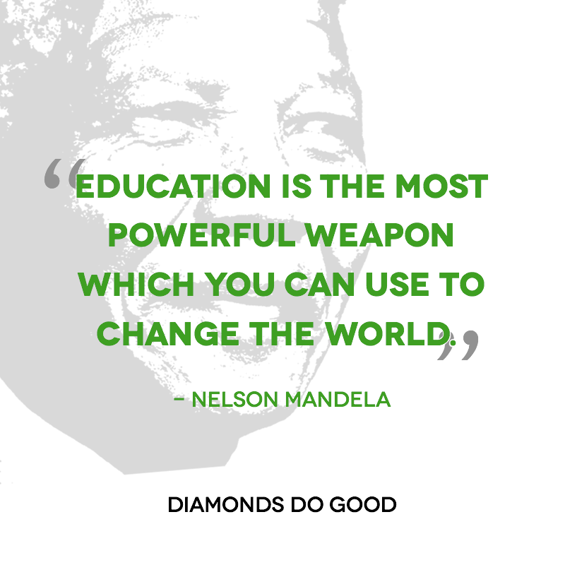 """Nelson Mandela Quotes On Change: Inspiring Quote By Nelson Mandela: """"Education Is The Most"""