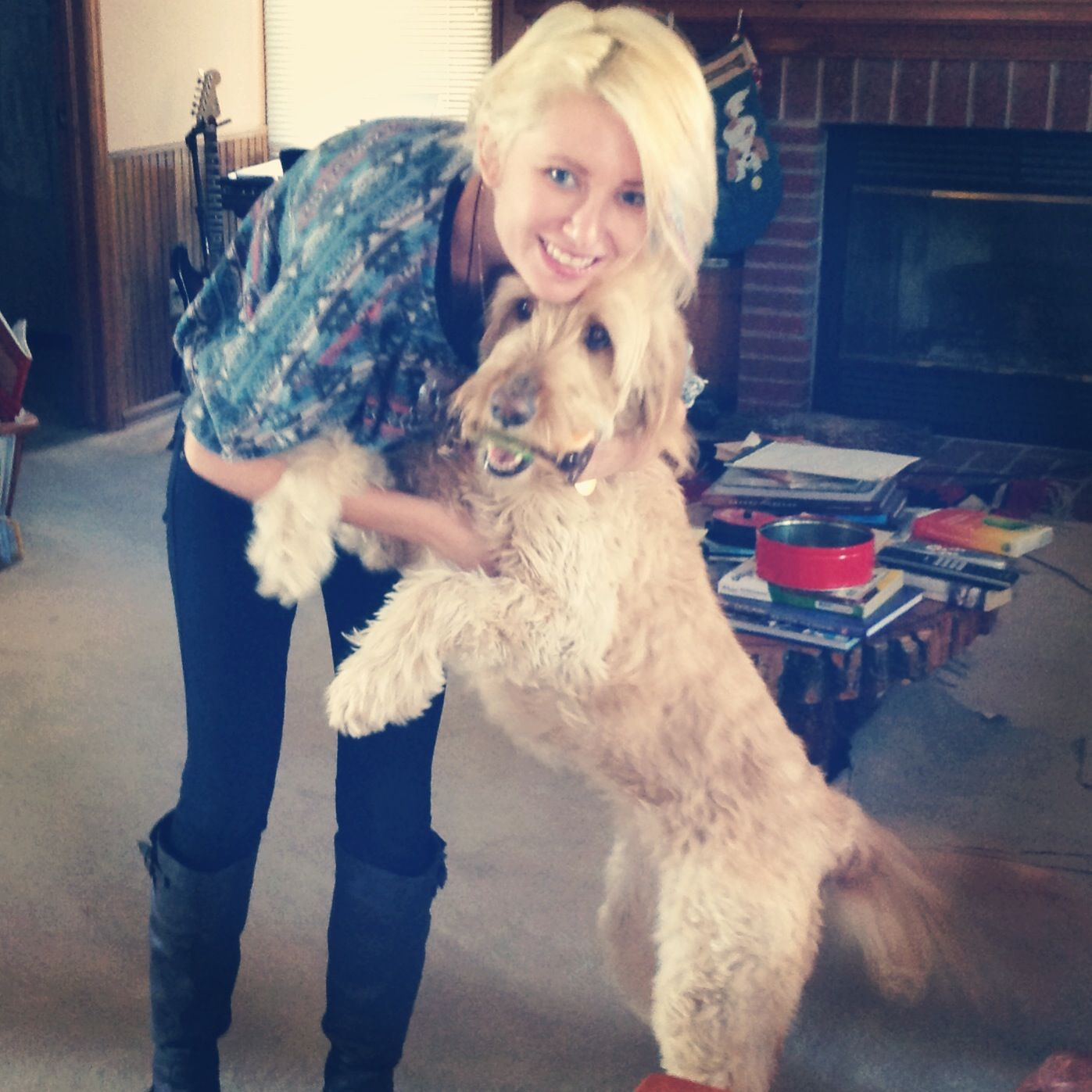Me and my dog. #goldendoodle #love #mydog